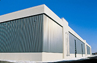 SolarWall unglazed solar collector on Canadair bombardier  building